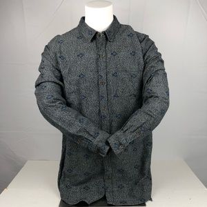 On the Byas Gray Blue Heavy Button Up Dress Shirt